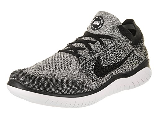 NIKE Men's Free Rn Flyknit 2018 White/Black Running Shoe 8.5 Men US