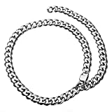 15 millimetri elegante Chain del bordo collana girocollo regolabile Cuban Catena in acciaio inox Curb collana Rapper For Men Boy