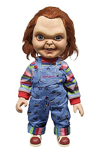 Close Up Child's Play Chucky Puppe Good Guy Evil Face, beweglich, mit Soundfunktion (H: 38cm)