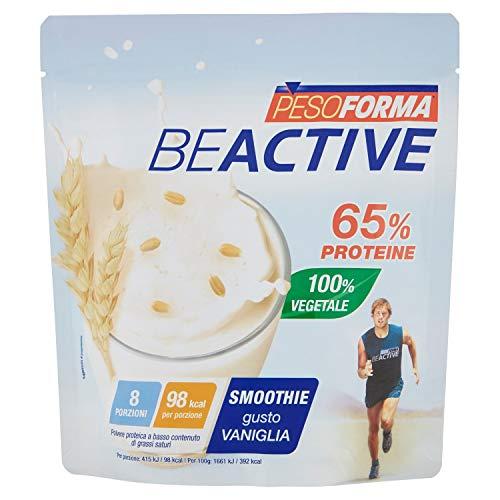 Pesoforma Beactive Protein Smoothie, 65% Proteine, 100% vegetale, Shake gusto vaniglia
