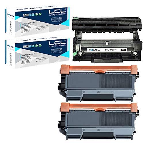 LCLCartucce di Toner CompatibileTN2320 TN-2320 TN2310 TN-2310 2600Pagine (2Pack) + Tamburo DR2300 DR-2300 12000Pagine (1Pack)Sostituzione perBrother HL-L2300D HL-L2365DW HL-L2340DW HL-L2320D