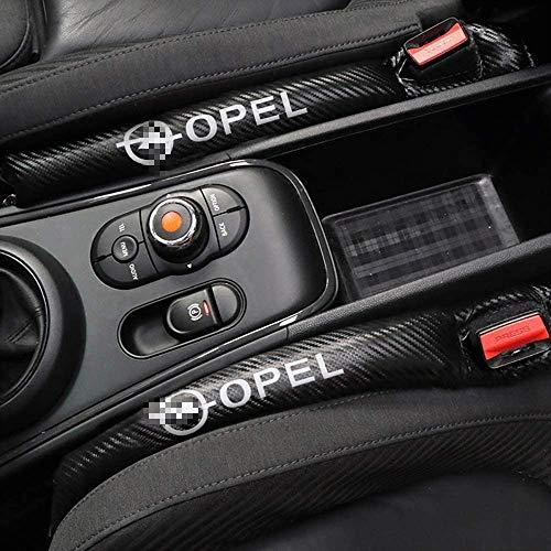 LGNB 2Pcs Autositz Gap Pad Spacer Fillers Slot Plug Auslaufsicheres Pad Für Opel Astra H G J Abzeichen Mokka Zafira Corsa Vectra C D Antara