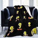 Tw-Eety Bird Fleece Throw Blanket, Super Soft Plush Fluffy Warm Flannel Blanket for Couch Sofa Bed Room