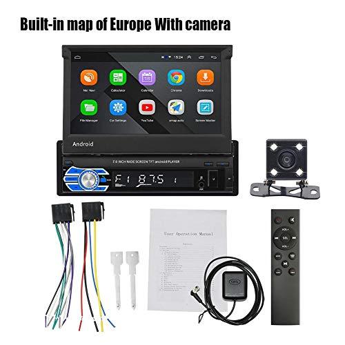 Android Single Din Car Stereo 7 Pulgadas Navegación Radio Del Coche Radio Con Pantalla Táctil Compatible Con FM Bluetooth WiFi GPS Navegación GPS Enlace De Espejo Navegación Radio Del Coche