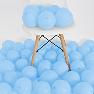 50 Pcs 5 Inch Light Blue Balloons, Light Blue Latex Balloons for Baby Shower Blue Theme Birthday Party Decorations