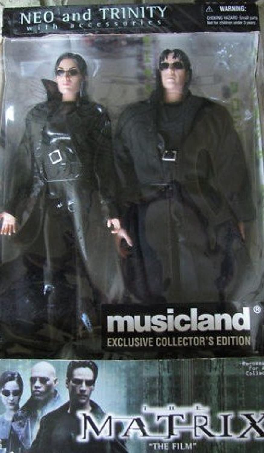 THE MATRIX NEO and TRINITY with accessories by Musicland Exclusive Collectors Edition