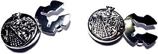 artigianale 1 Coppia COPRIBOTTONI 18 MM Stemma Reale Scegli Colore Metallo Copri Bottoni per Camicie Donna O Polsini Bijou...