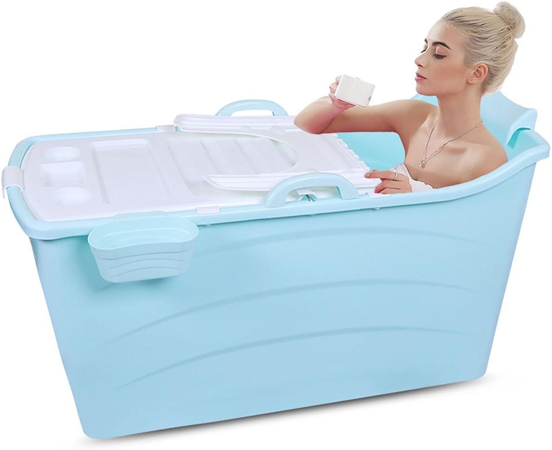 Inflatable Bath Home Faltende Badewanne Erweiterte Erwachsene Badewanne Kinder Kunststoff Groe Badewanne Baby Schwimmen Badewanne (Farbe  Blau, Gre  120  68  43cm)