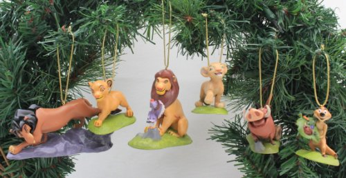 Disney's The Lion King Holiday Ornament Set- (6) PVC Figure Ornaments Included - Limited Availability