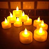 Nalmatoionme 12 velas LED duraderas sin llama, funciona con pilas, accesorios