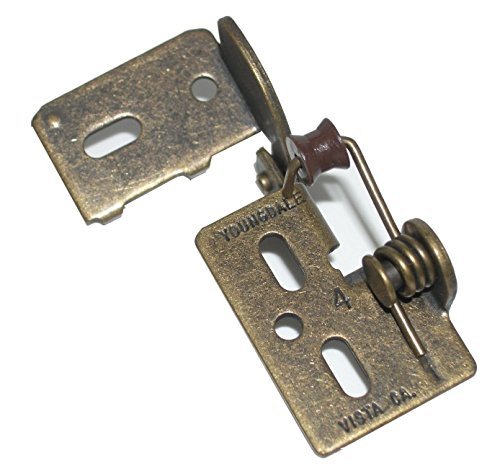 Youngdale #4 3/8' Inset Self Closing Knife Hinge For 3/4' Minimum Thickness Door Antique Brass Finish