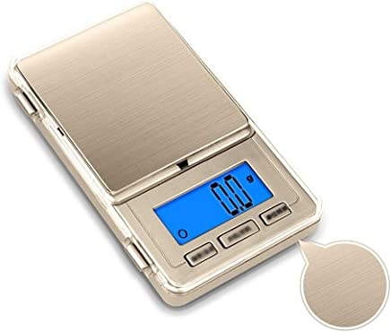 Kitchen Scales - Stainless Steel, Brushed Metal, LCD Blue Screen Backlight, Stylish Home Brushed Portable high Precision Food Baking Compact Weighing Scale -2 Kinds of Weighing Optional