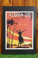 【ハワイアン雑貨】ハワイアンポスター(ALOHA OE)F-36