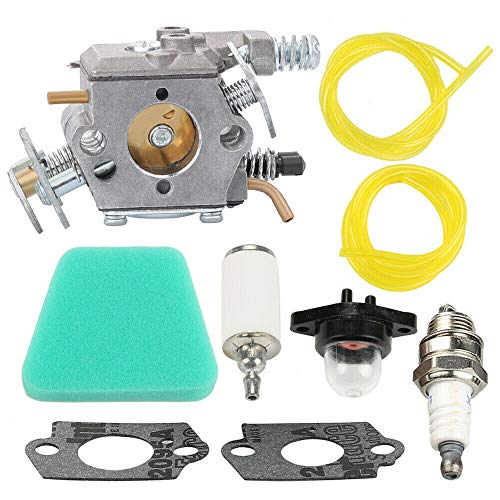 New Carburetor Compatible with Craftsman 18 42cc 545081885 Chainsaw Air Fuel Filter + Free Useful Ebook