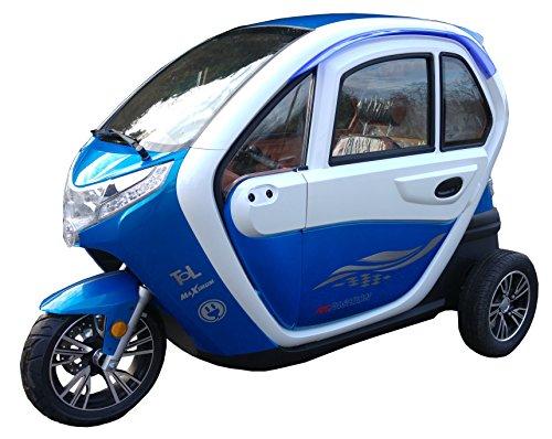 Scooter Elektroauto Kabinenroller E-Mobil mit Dach Bild 5*