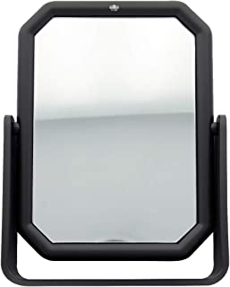 Pour Coiffeuse Salle de Bain Coiffure Miroir Rectangulaire Miroir De Maquillage Miroir Carr/é Avec Sangle de Poign/ée PU Rectangle de Miroir de Cosm/étique