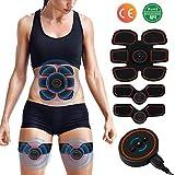Appareil Abdominal, Electrostimulateur Musculaire ABS Trainer EMS Smart Ceinture USB de Charger Abdominal Gym Fitness Entraînement Tonifier à Domicile Cuisse Ventre Bras Jambe Hommes Femmes (Appareil-1)