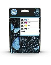 HP 953 Inktcartridge Zwart, Cyaan, Geel, Magenta, 3 kleuren en zwart 4-Pack Standaard Capaciteit (6ZC69AE) origineel van HP
