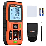Laser Measure 393Ft - LOMVUM Laser Tape Measure Laser Measurement Tool with M/In/Ft Unit Switching, Backlit LCD, Pythagorean...