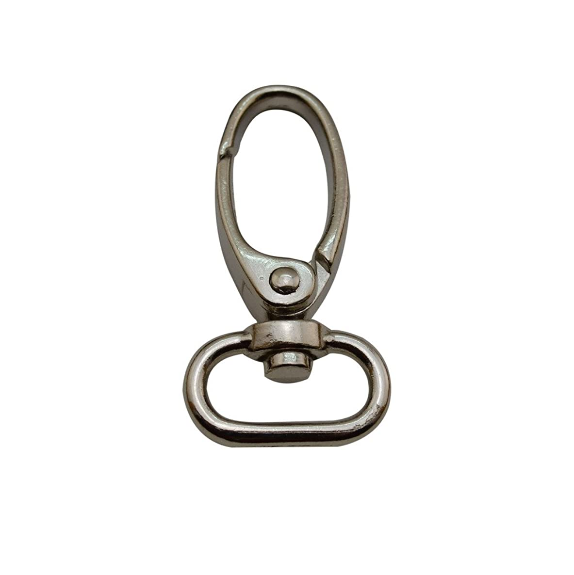Ailisi Metal Silvery Olive Lobster Clasps 0.75 Inches Internal Diameter Oval Swivel Trigger Clips Hooks Pack of 10