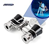 Aomekie Theatre Opera Glasses Binoculars 3X25 with Chain for Theater Horse Racing Classical