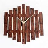GYNMR Reloj Creativo Continental Simple Rural Rural Art Silent Square Reloj de Pared Decoración Regalos Dormitorio Estudio Sala de Estar Habitación para niños