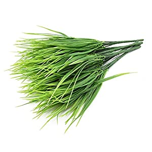 ooege Artificial Plants Green Grass Plastic Flowers Wedding Spring Summer Living Room Christmas Home Decorations