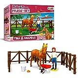 CRAZE- Bibi Bibi & Tina Figuras de Juguete Set de Cuidado de Caballos Tina y Amadeus Incl. Accesorios 14134, Multicolor