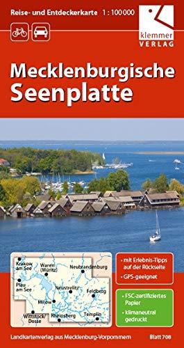 Reise- und Entdeckerkarte Mecklenburgische Seenplatte: Maßstab 1:100.000, GPS-geeignet, Erlebnis-Tipps auf der Rückseite