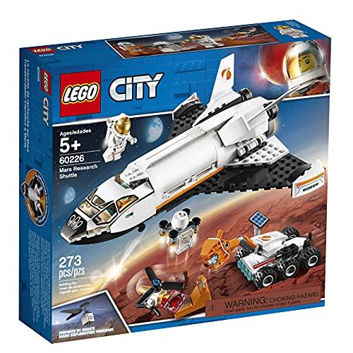 LEGO 60226 City Mars-Forschungsshuttle mit 2 Minifiguren und Flugdrohne, Bauspielzeug für Kinder inspiriert von der NASA