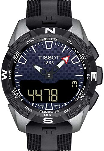 Tissot Mens T-Touch Expert Solar II Mens Silicone Watch Titanium T1104204705101