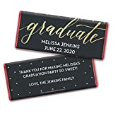 Personalized Graduation Wrappers for Hershey's Chocolate Bar Candy Favors (25 Wrappers) - Red Foil