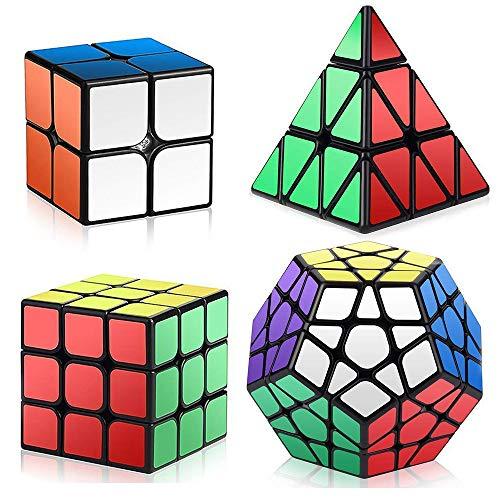 ROXENDA Zauberwürfel Set, Speed Cube Set 2x2x2 3x3x3 Megaminx Pyramide Speedcube Smooth Puzzle, Einfaches Drehen und Flüssiges Spielen