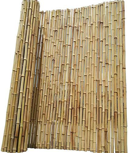 YZJL Pantalla Almohadilla de privacidad Antiséptico Bambú Protección contra el Viento y el Sol Partición Decoración Valla de jardín Terraza Valla de bambúdecoracion Jardin