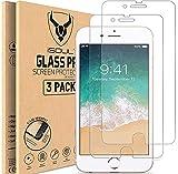 [3 Stück] Panzerglasfolie kompatibel mit iPhone 8 Plus/iPhone 7 Plus [5,5 Zoll] HD, iSOUL Bildschirmschutzfolie, 9H Festigkeit, Kratzfest, Blasenfrei Schutzfolie