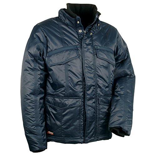 Cofra winterjas met capuchon eten V095 warm gevoerd werkjack, 60, marineblauw, 1