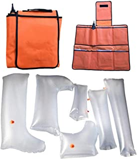 First Aid Air Splint Kits, Inflatable Plastic Splint with Hand Wrist Elbow Half Arm Full Arm Foot Ankle Half Leg Full Leg for Home Outdoor Emergency Use - Set of 6
