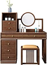 New Chinese Style Solid Wood Dressing Table, Bedroom Furniture, Multifunctional Modern Minimalist Storage Cabinet, with Ma...