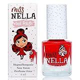 Miss Nella CLASS CLOWN- rosso Smalto speciale con brillantini per bambini, con formula peel-off, a base d'acqua e senza odori