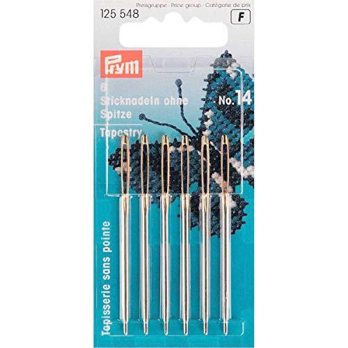 Prym Stickerei, Steel, Silber, 60 mm Länge x 1,90 mm Stärke