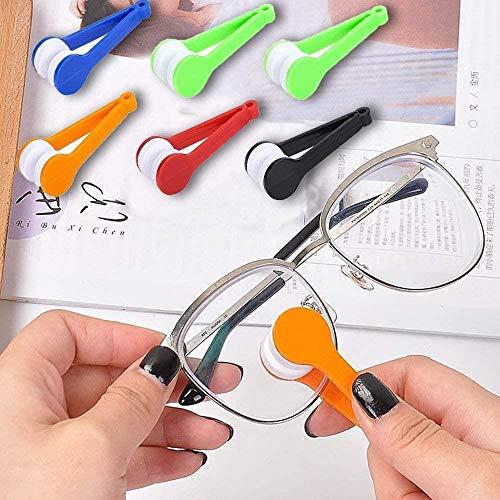 XINGDONG 5 Piezas de Limpiador de vidrios, Cepillo de Limpieza de Gafas, vidrios magnéticos portátiles Limpie, Herramienta de Limpieza de Cepillo Suave de Microfibra (Color al Azar) Durable