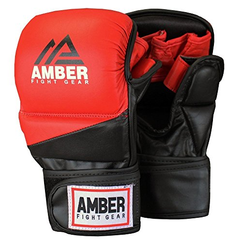 Amber Fight Gear Pro Style MMA Grappling Handschuhe, Mehrfarbig, XS