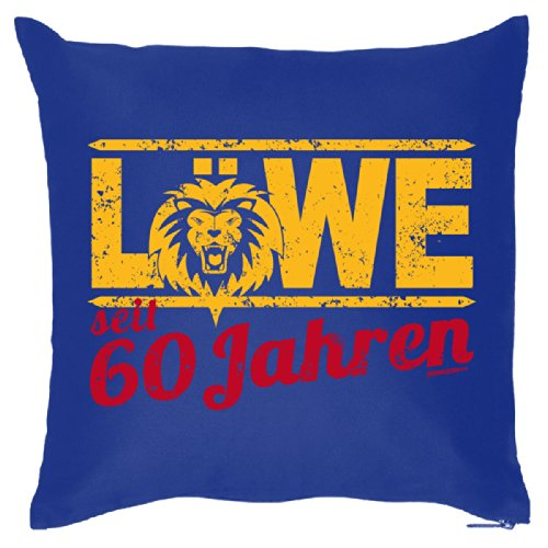 Super leuk sofakussen decoratief kussen voor het verjaardagskind - 60 jaar leeuw - sterrenbeeld/Goodman Design