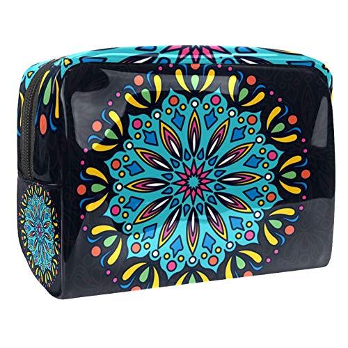 TIZORAX Trousse de toilette en PVC avec motif mandala, idéale pour le voyage, les produits de toilette
