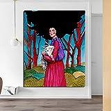 Póster nórdico con una oveja, Cuadros, pintura en lienzo, impresión, decoración para sala de estar, arte de pared moderno, pintura al óleo, cartel 40x60 CM (sin marco)