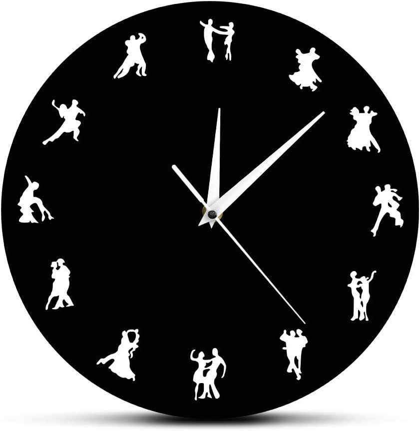 ブランド激安セール会場 N A Wall Clock Ballroom La Design Dancers Minimalist 贈答