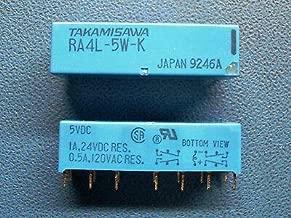 TAKAMISAWA RA4L-5W-K 4PDT 5VDC 2A 1 Coil Latch dip Relay Qty=1