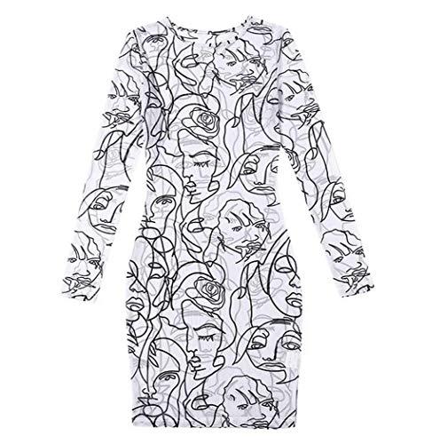 KINGVON Moda Mujer Vestido De Patrón De Vestido Corto Mini Elástico Elástico Vestido De Manga Larga Club Noche Desgaste De Malla Pura Bodycon Sexy Ropa De Dormir