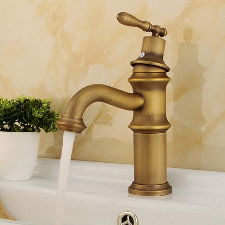 Lddpl Bathroom Basin Faucet Copper Brass Mixer Sink Tap Solid Luxury Washroom Taps Crane Y10067