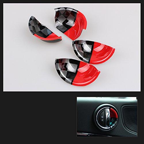 QIDIAN Car Chrome Interior Door Lock Pin Knob for Mini Cooper JCW ONE S Clubman F54 F55 F56 F57 F60 R50 R53 R55 R56 R57 R58 R59 R60 R61 Countryman